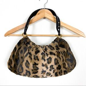 Kate Spade Faux Fur Leopard Print Bag Magnetic